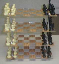 Quadlevel 3DChess and Checkers